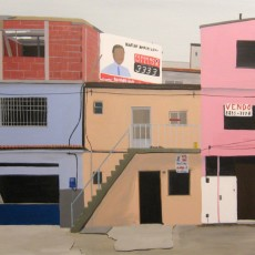 Straatbeeld van een sloppenwijk (favela) in Rio de Janeiro