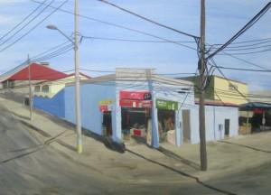 Cityscape of an unknow street in Rio de Janeiro, title;Rua Desconhecida (1)